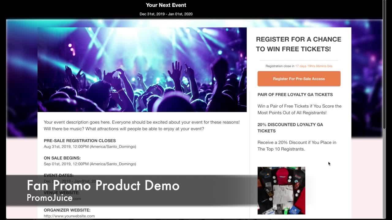 Fan Promo Module Product Demo