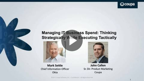 CIO.com & Coupa: Managing IT Business Spend: Thinking Strategically While Executing Tactically