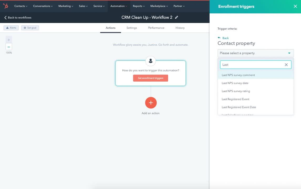 CRM Clean Up Workflow 2 - Screencast