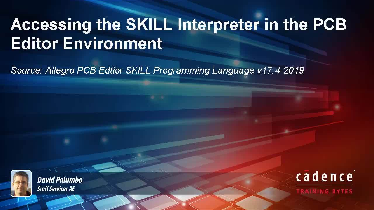 Accessing the SKILL Interpreter in PCB Editor