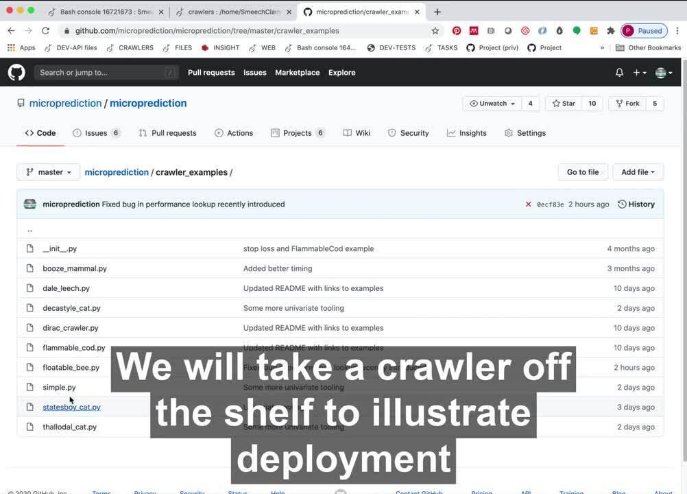 Creating a starter crawler