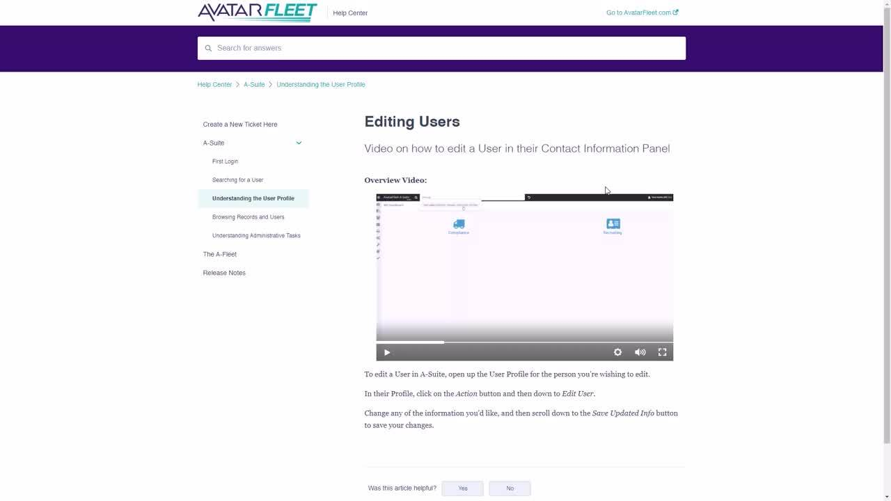How To Find A-Suite Support Articles-Videos