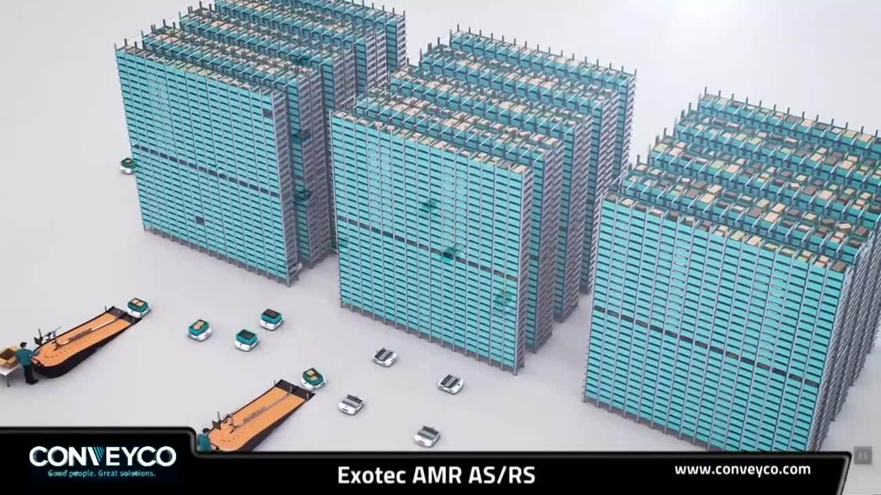 Exotec AMR High Density Automated Storage and Retrieval System-1