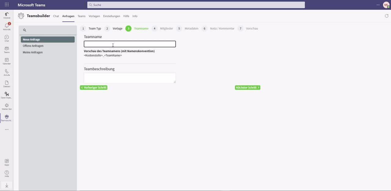 Erklär-Video TeamsBuilder neues Team anfordern-3