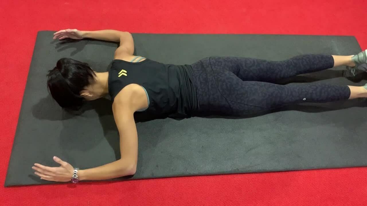 6) Prone scapular stabilization