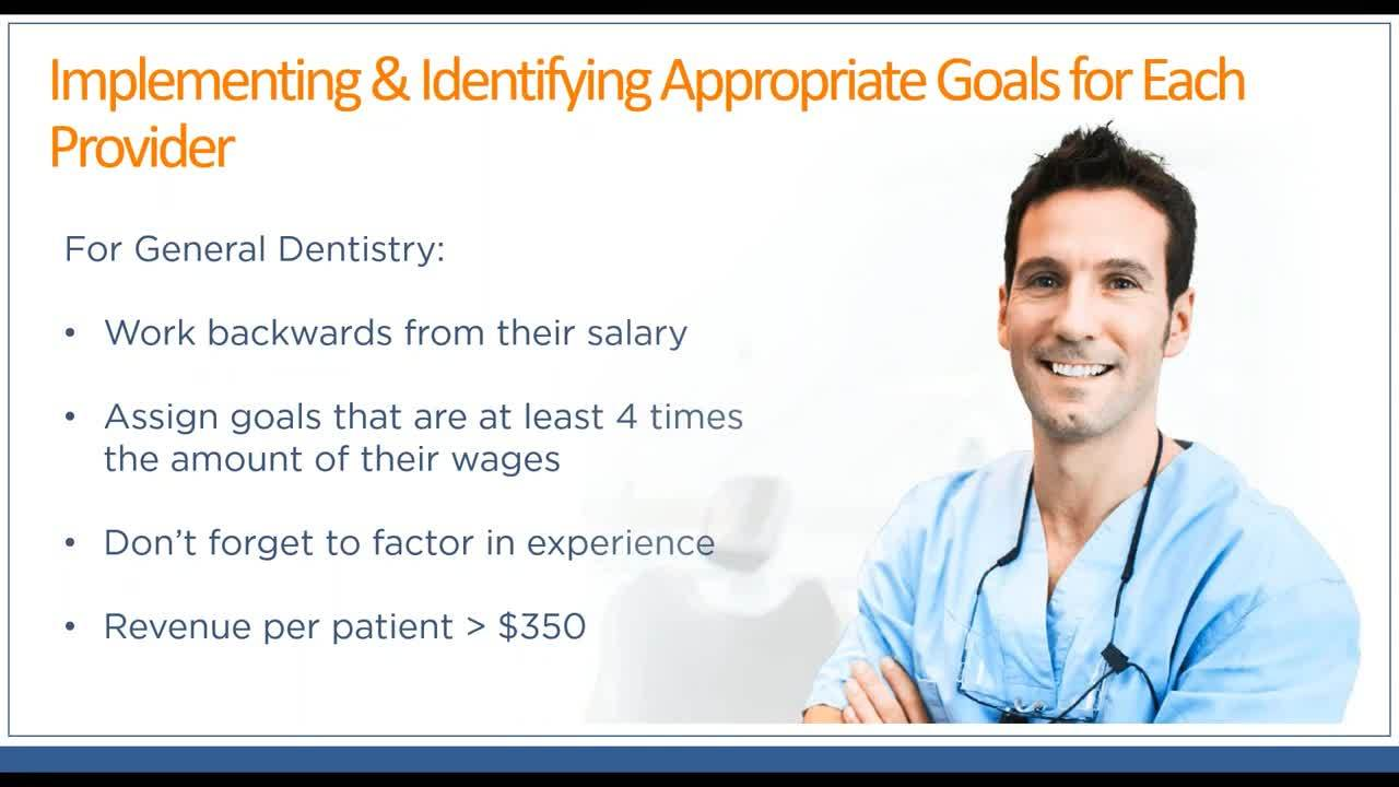 Setting goals for your dental providers