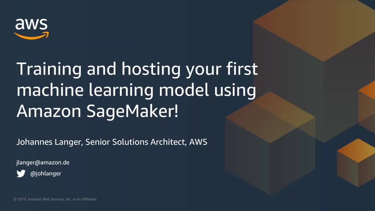Getting started with Amazon SageMaker!