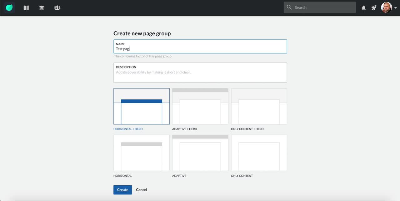 Create page group