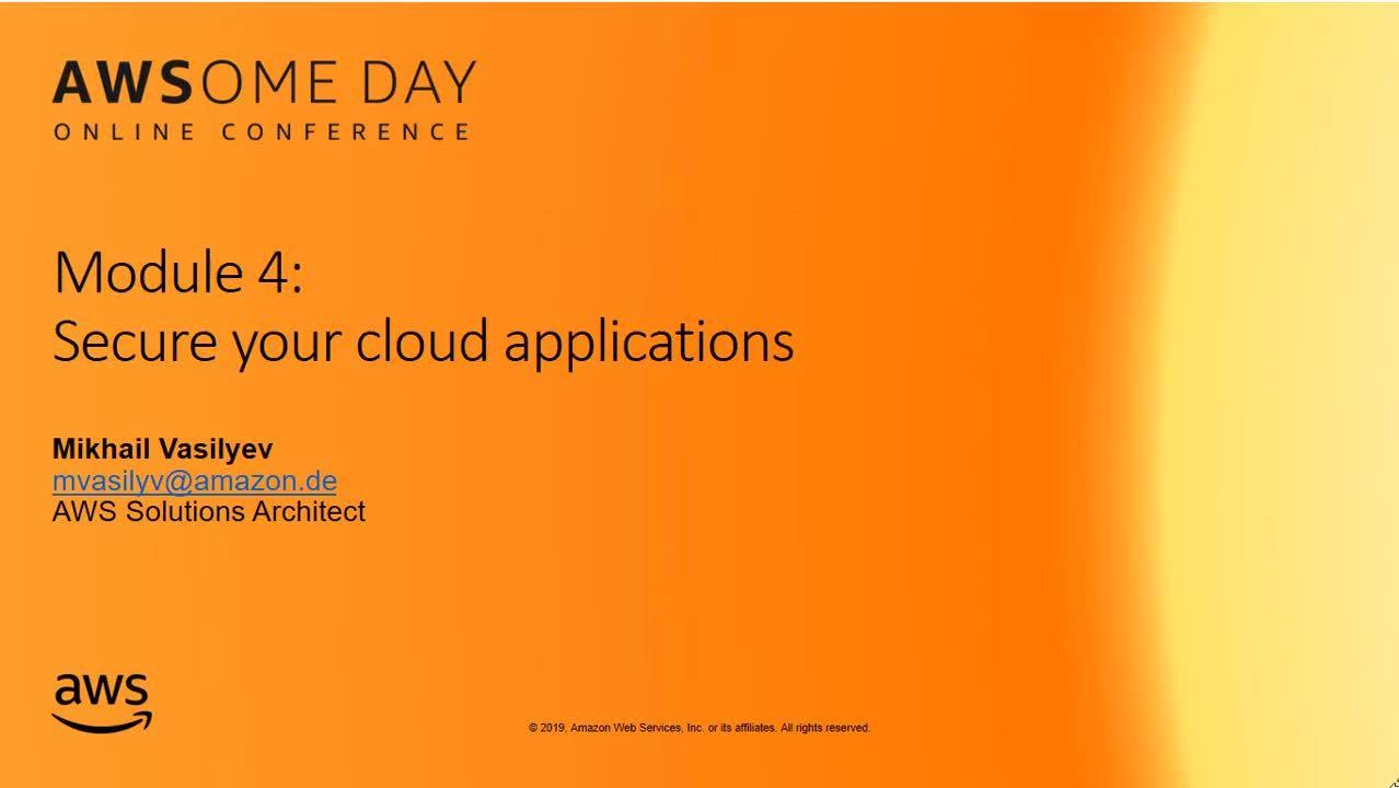 21.04.2020 | Основы безопасности облака и в облаке AWS