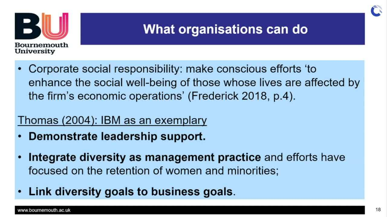 What organisations can do - Dr Lim