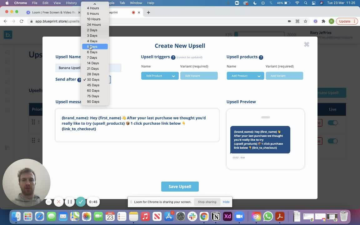 Create your first upsell _ Blueprint
