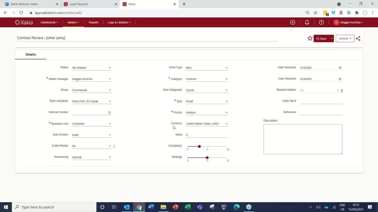Streamline Legal Operations with Xakia Webinar
