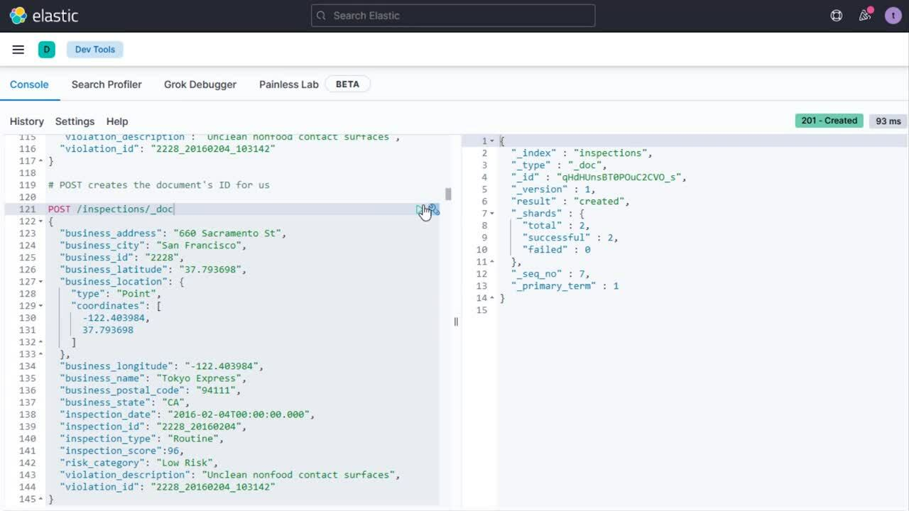 Video for Getting Started with Elasticsearch