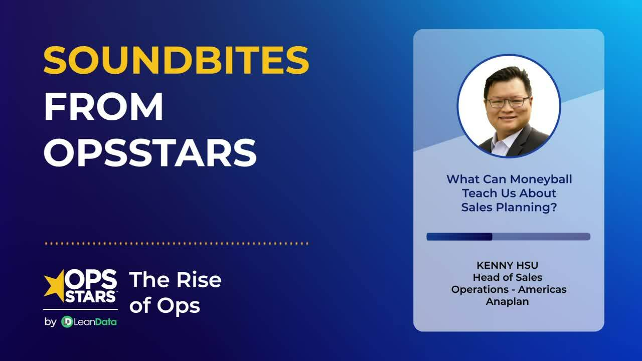 Soundbites from OpsStars | What Can Moneyball Teach Us About Sales Planning?