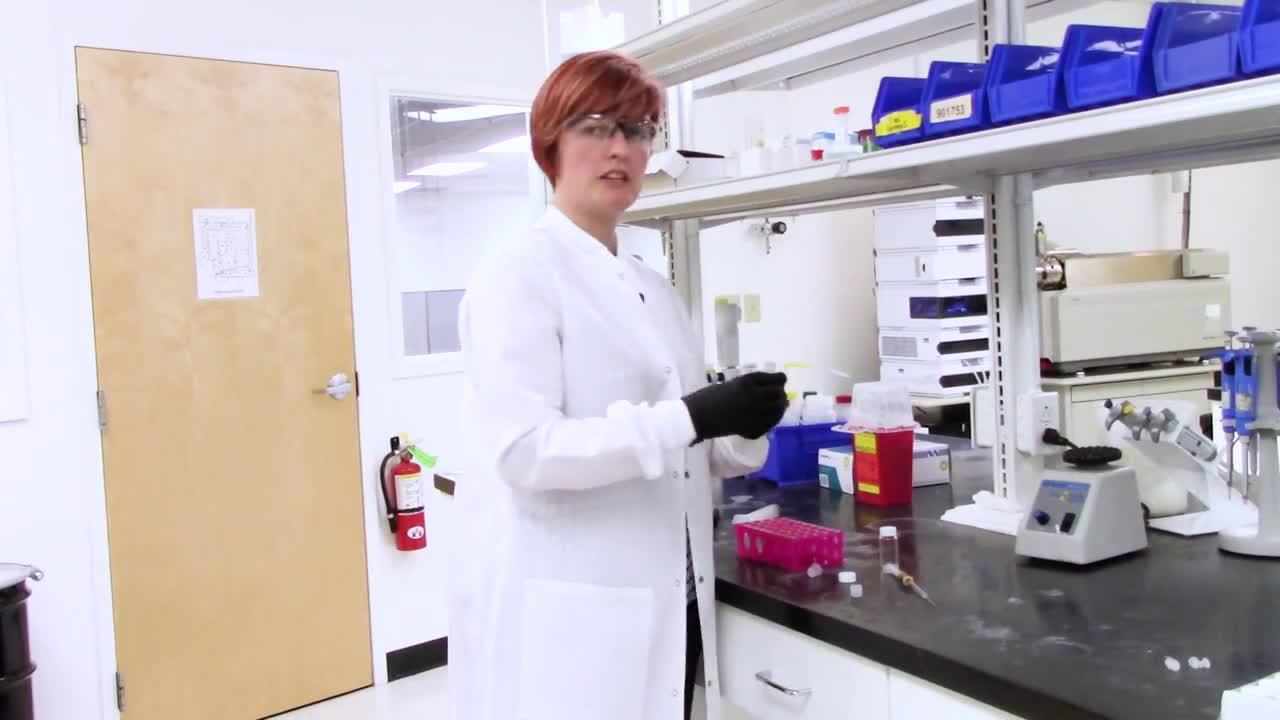 Removing peptide cleavage cocktail with Biotage V-10 Touch