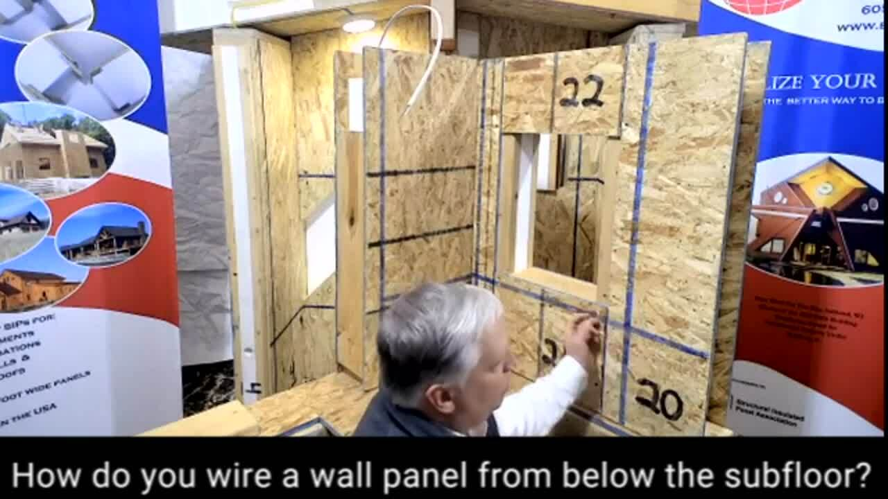 FAQ_Web_How to wire a wall panel from below the subfloor