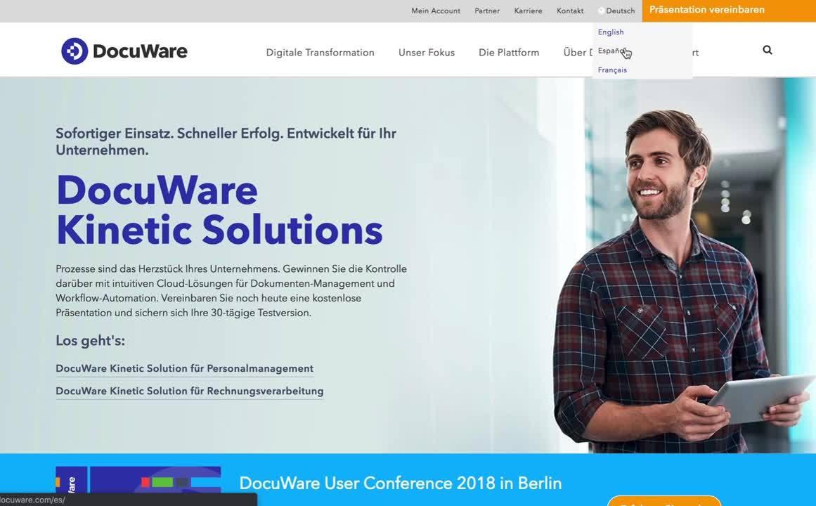 DocuWare-multilingual-website