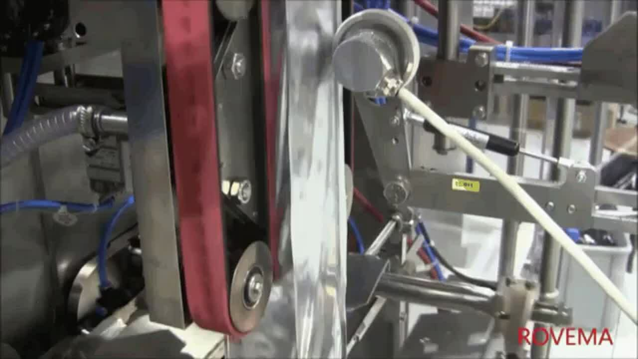 Rovema VFFS Machine Creating Offset Seal Quad Seal Stabilo Coffee Bags with Valve for Premium Coffee