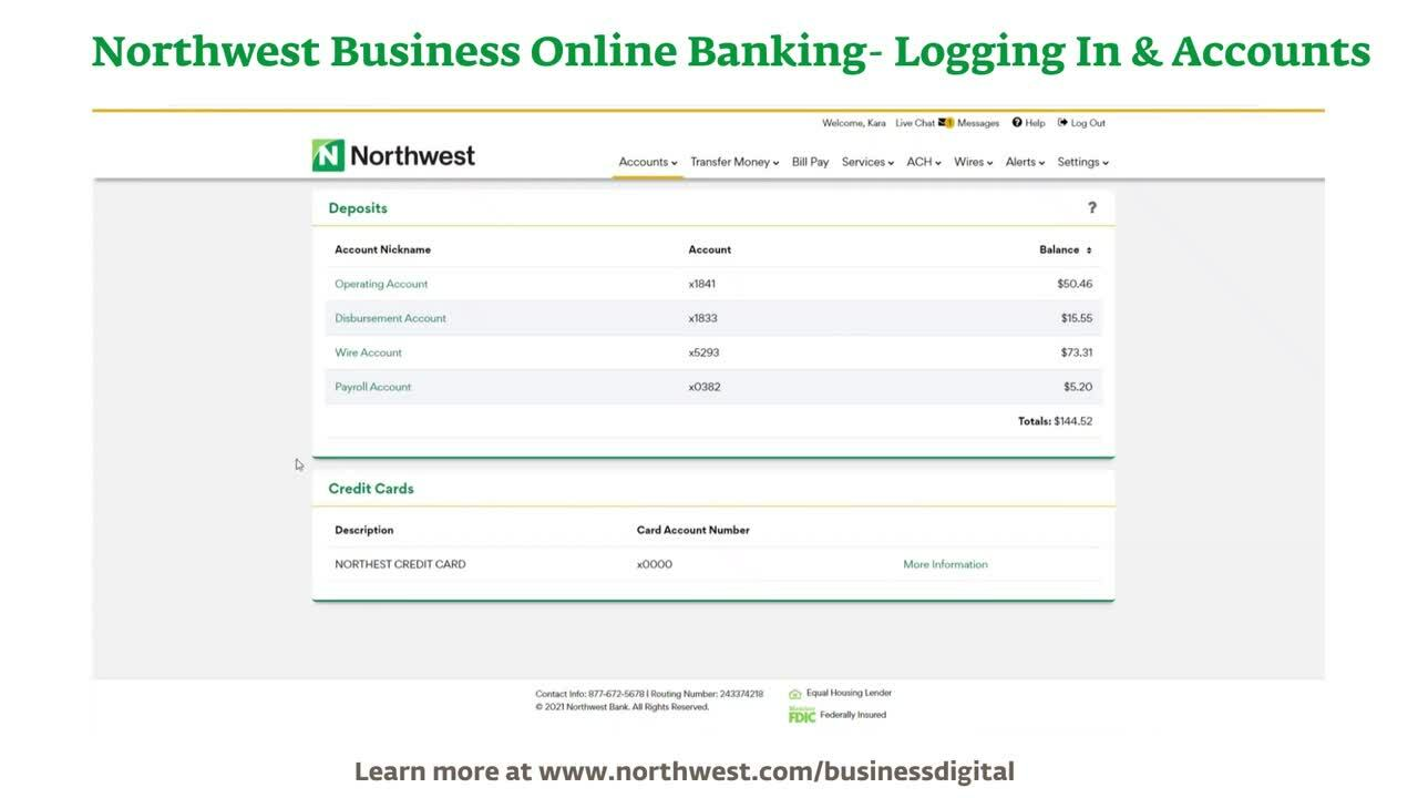 Business Online Banking- Logging In & Accounts Demo Final