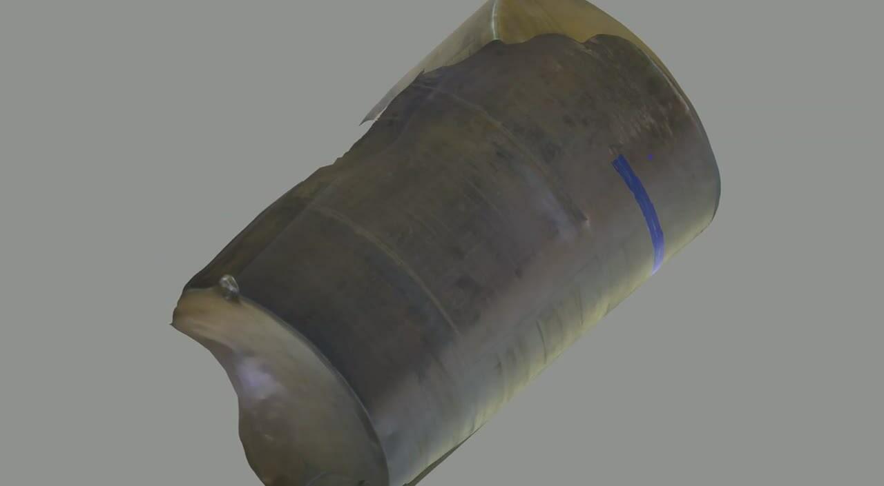 UT Scan Overlay - Tank Photogrammetry