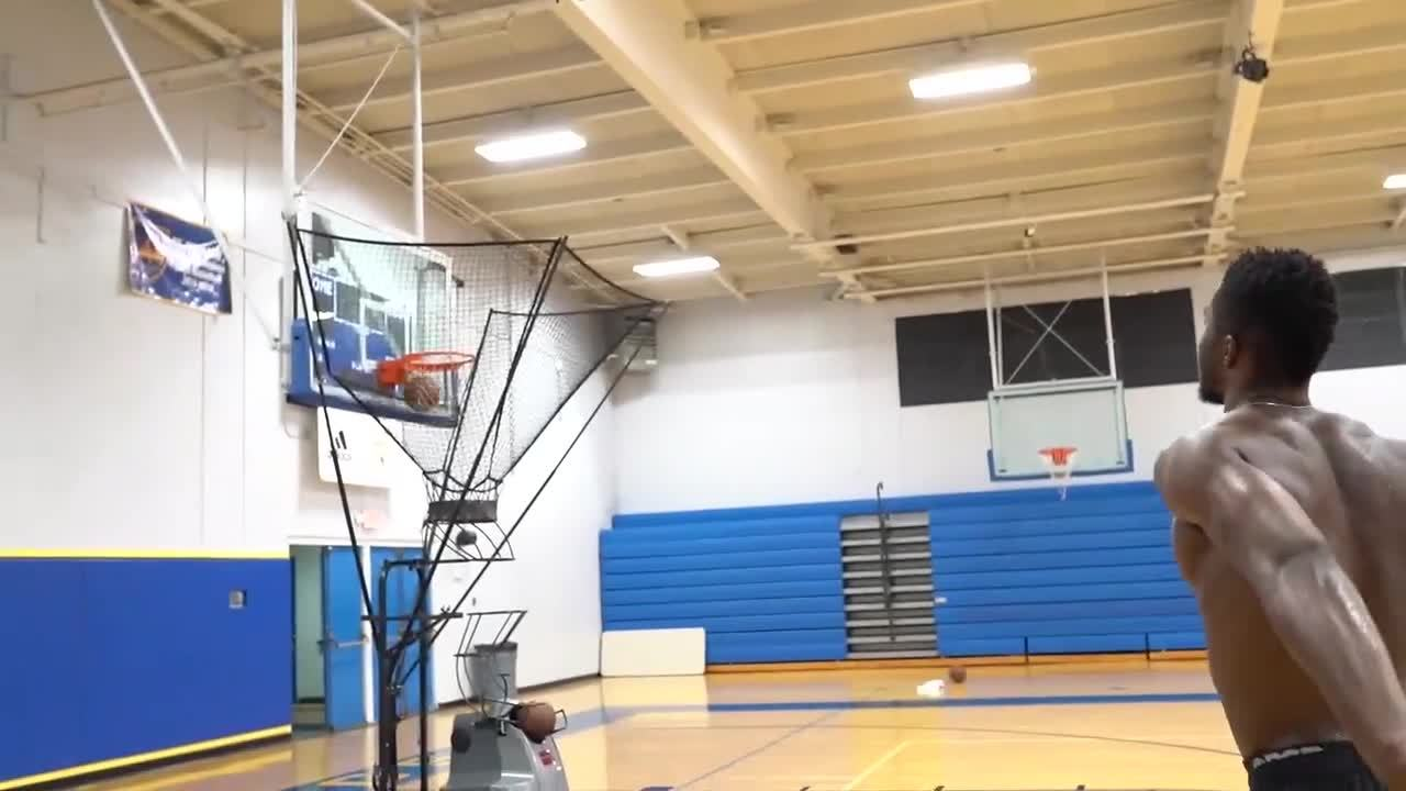 100318 Semi Ojeleye Dish Workout
