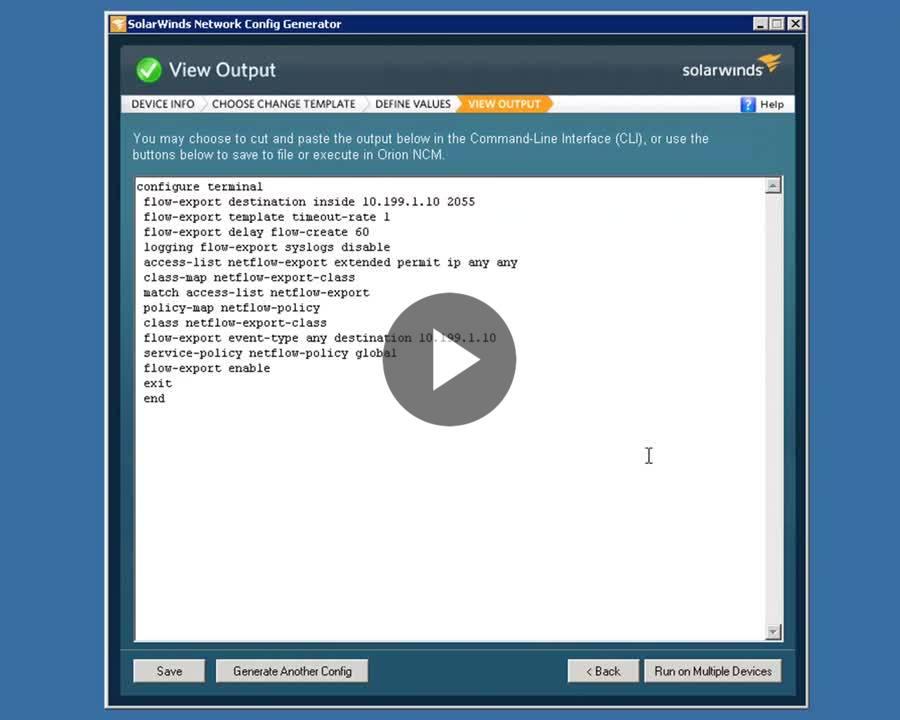 Free Network Config Generator | SolarWinds