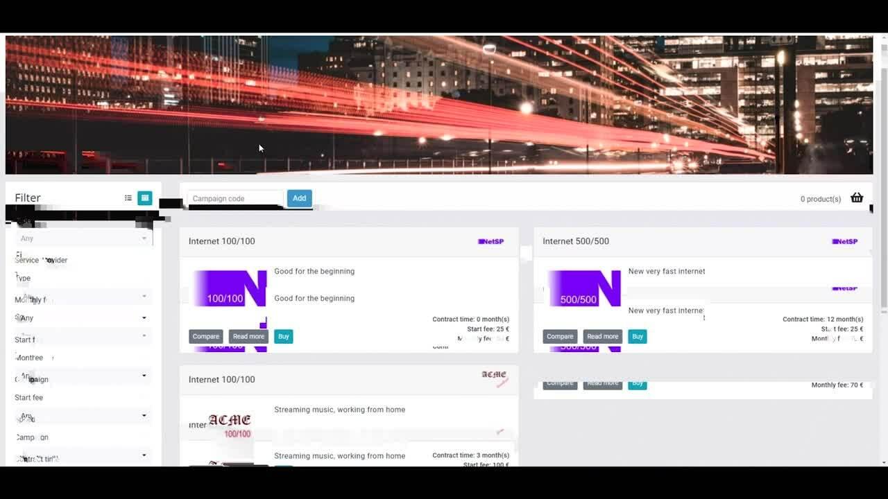Netadmin  - Portal Backend long demo