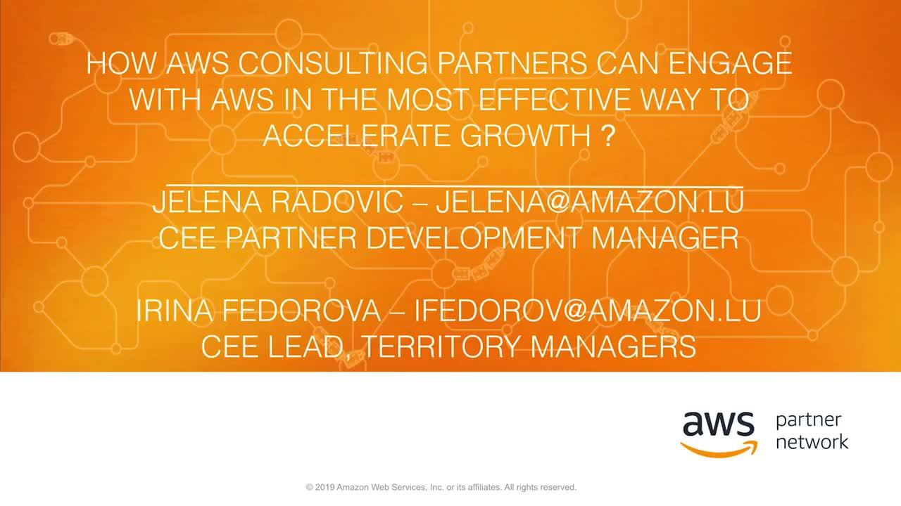 How to work with AWS Sellers as an APN Consulting Partner? (In English)