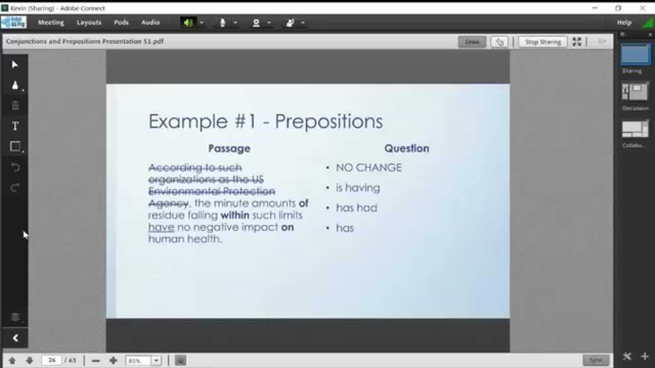 Preposition Example #1