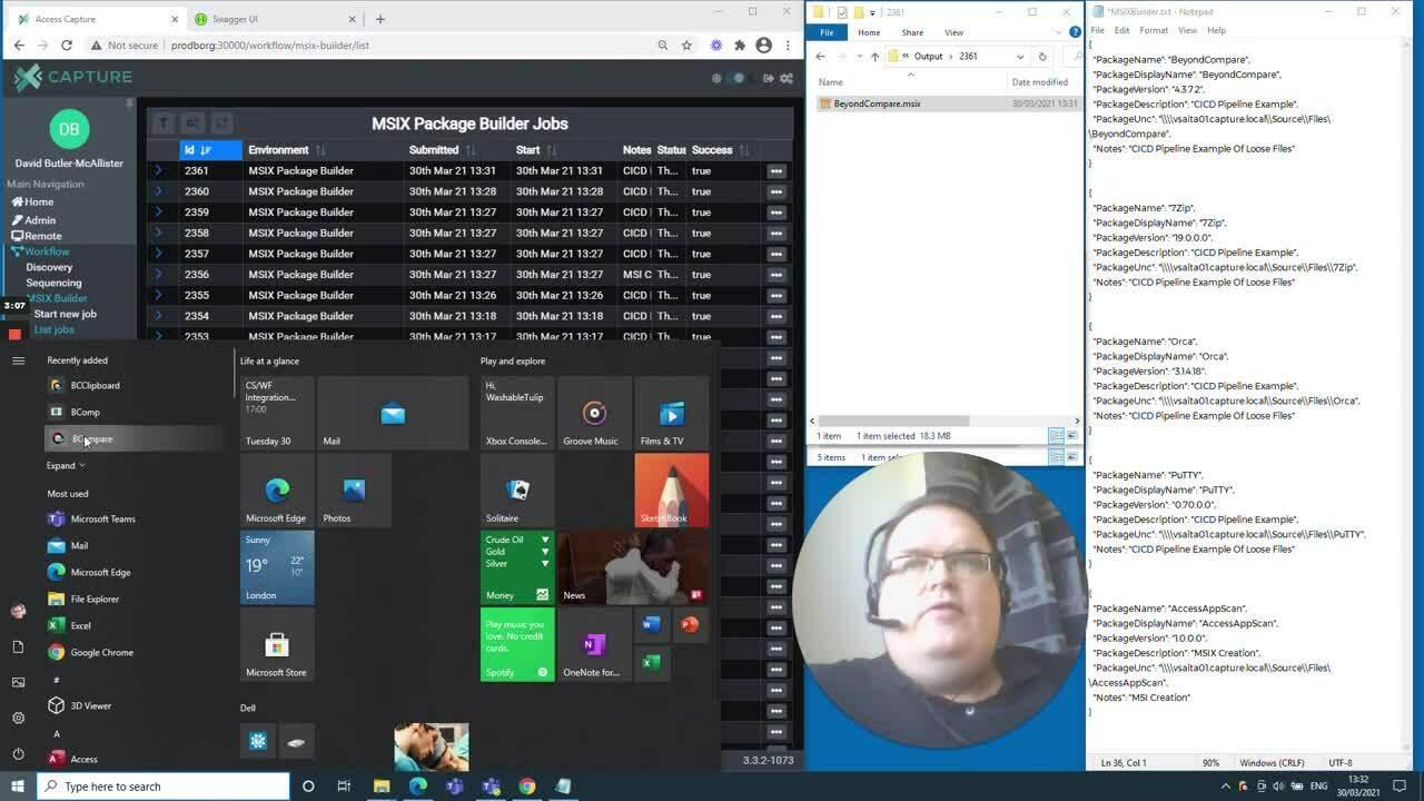 Access Capture - MSIX Builder (CICD Pipeline)