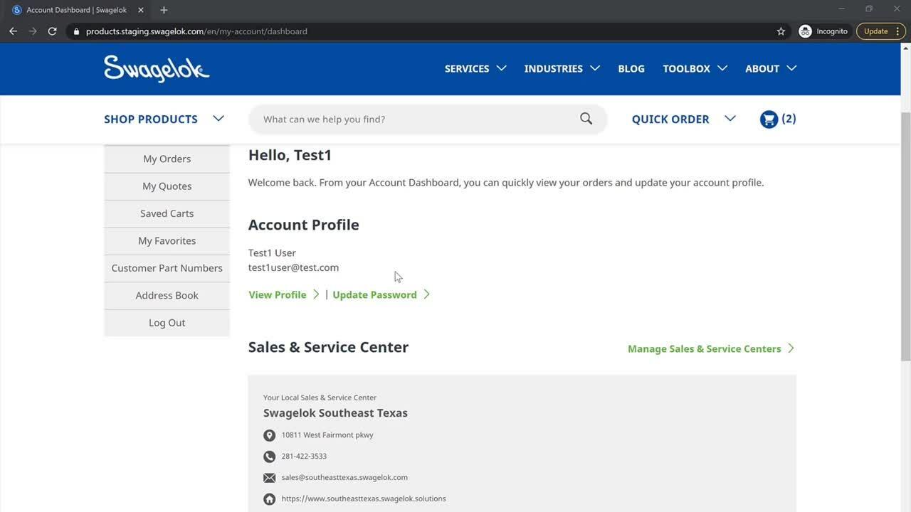 SAP Commerce-customer demo-log-in-build-cart-1