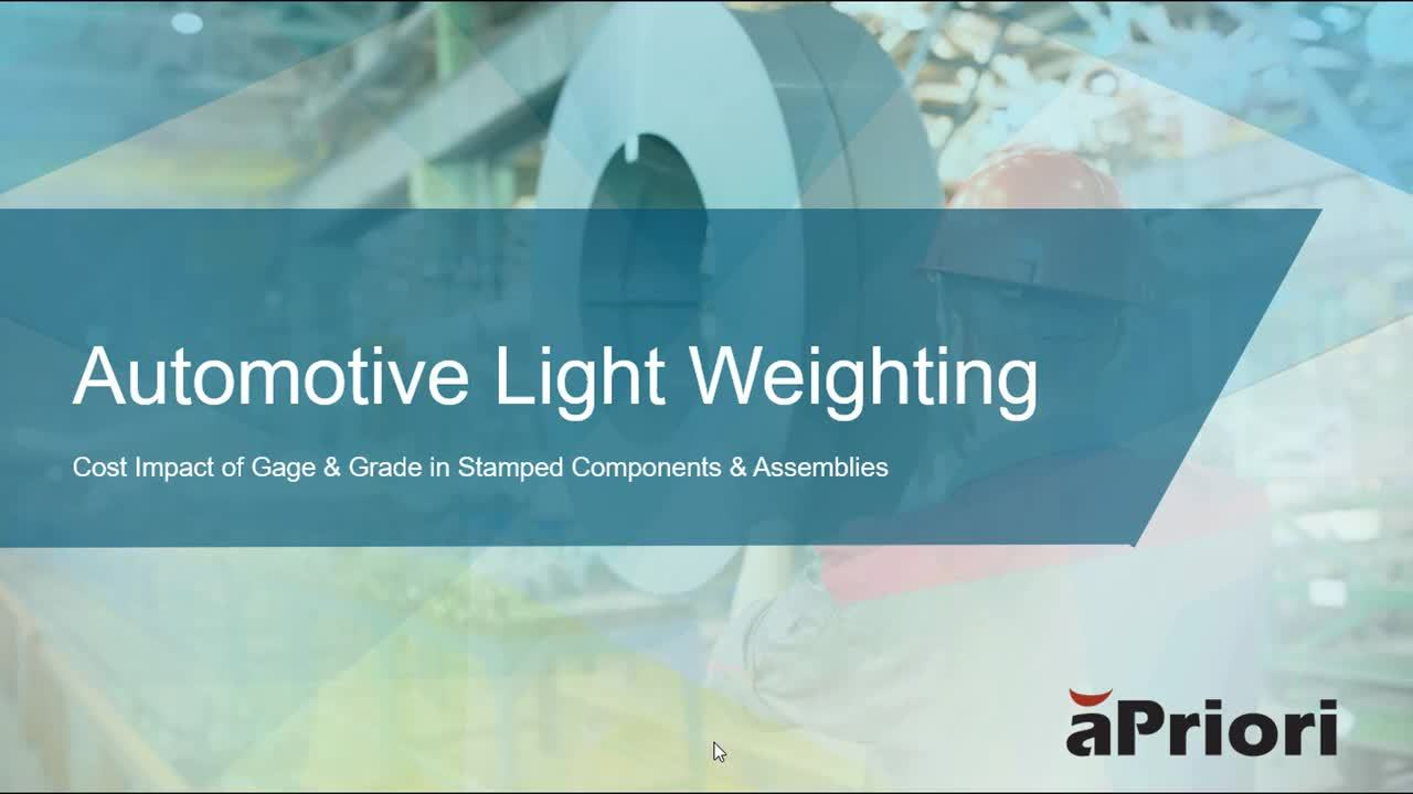 Automotive Light Weighting Demo