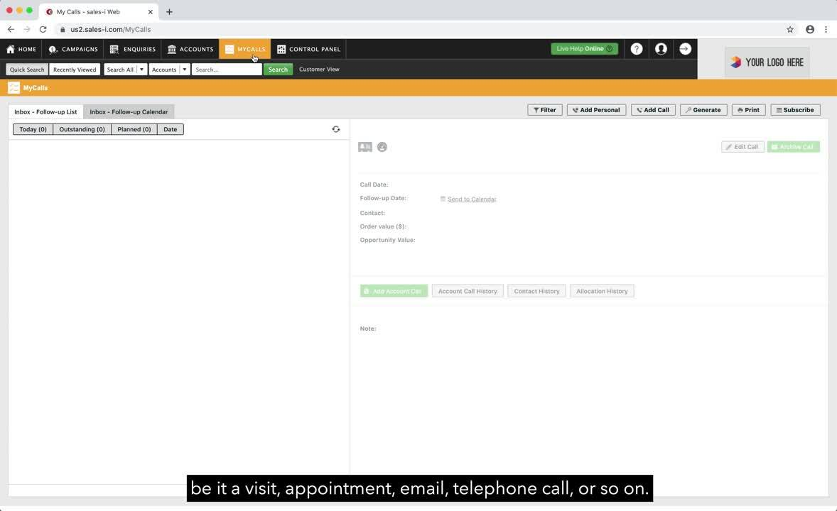 sales-i on Desktop_8a_An Introduction to MyCalls on sales-i_V2