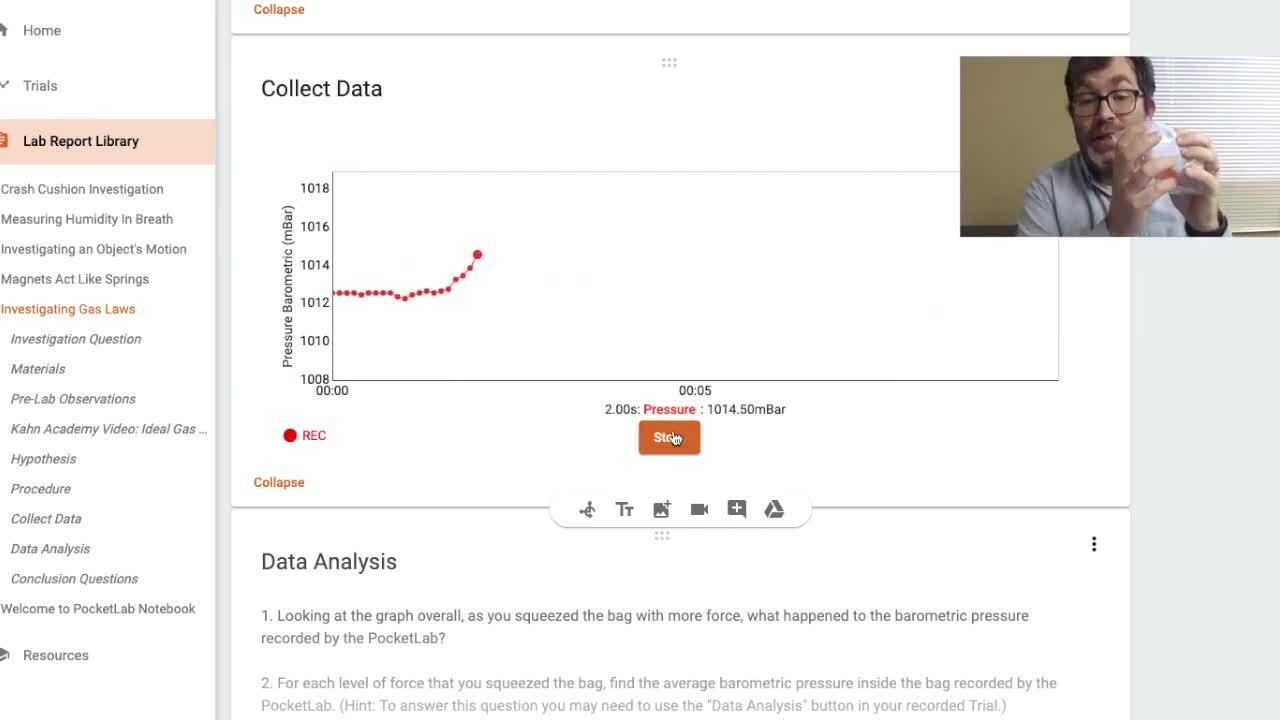PocketLab Notebook - Lab Report Quick Tour
