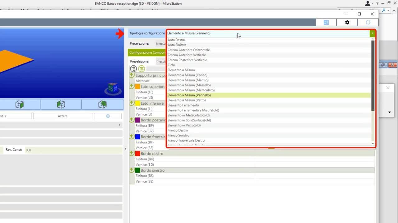 Configurazione elementi con PROGENIO MAXX