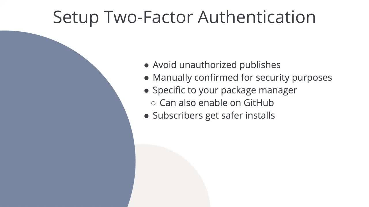 Setup Two-Factor Authentication