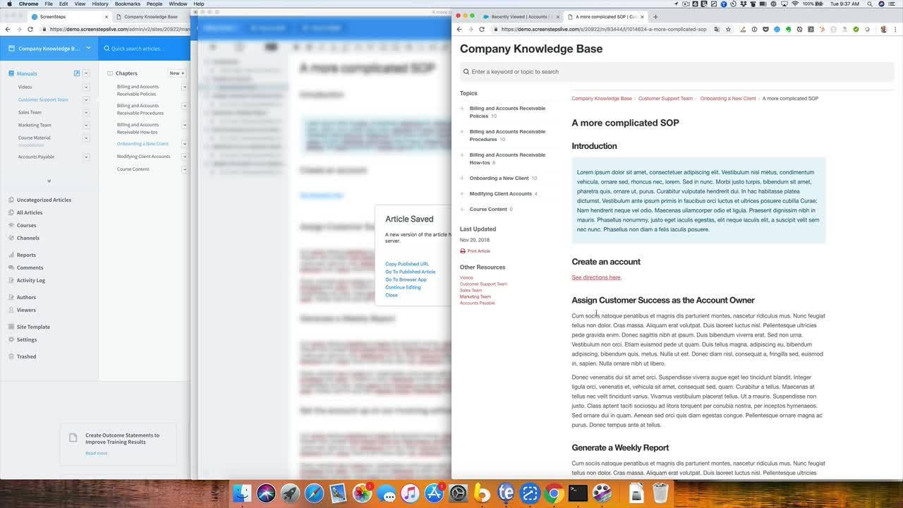 Formatting Complex Information