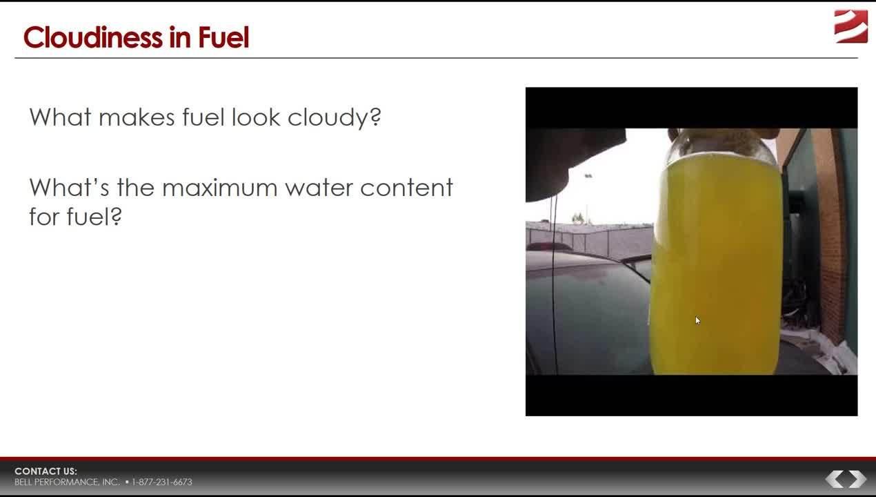 Water in Diesel Fuel_Sales Meeting Training Q1 2018