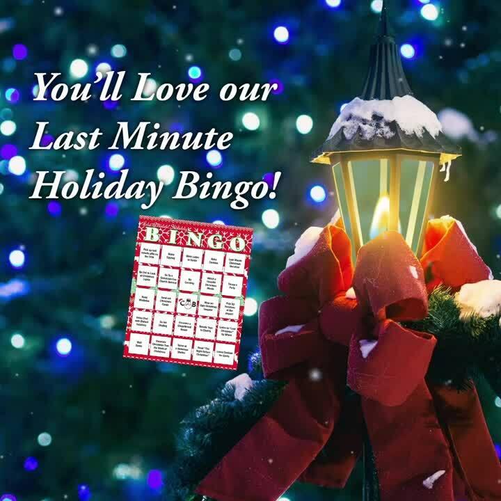 CB Blog - Holiday Bingo