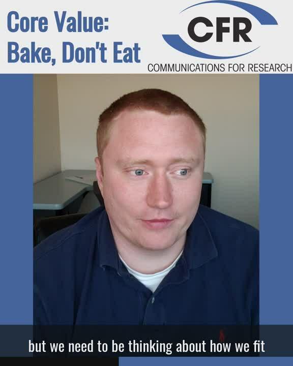 Core Value 3 - Bake Dont Eat