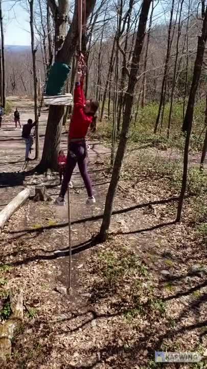 Movie of kids at zipline outdoor adventure course