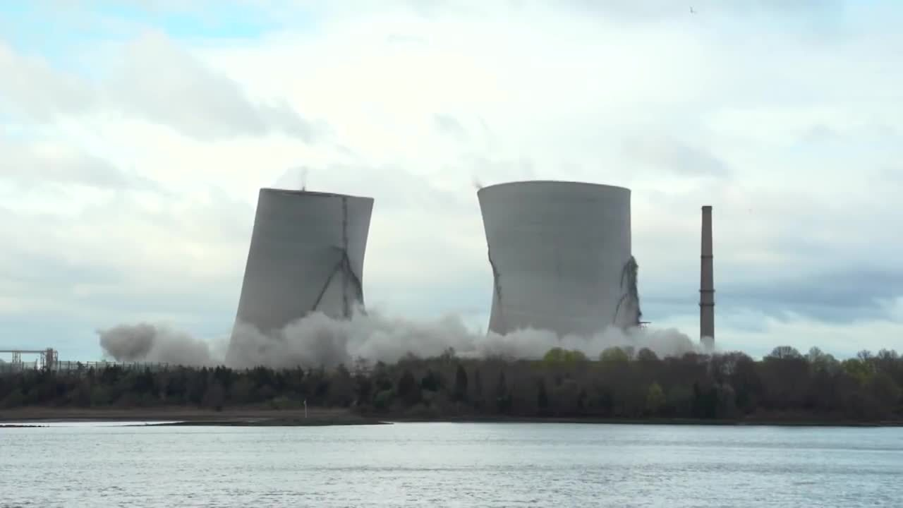 Brayton Point Power Plant Cooling Towers Demolition