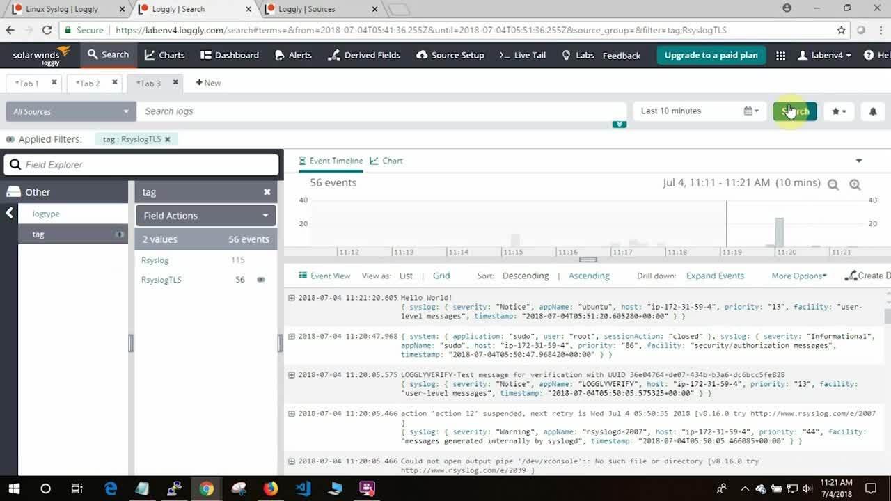 SolarWinds Loggly: Linux Setup