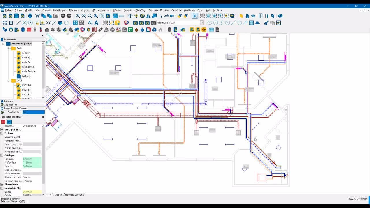 Trimble Nova V16.0 - Fiche produit URL ou PDF via Trimble Connect
