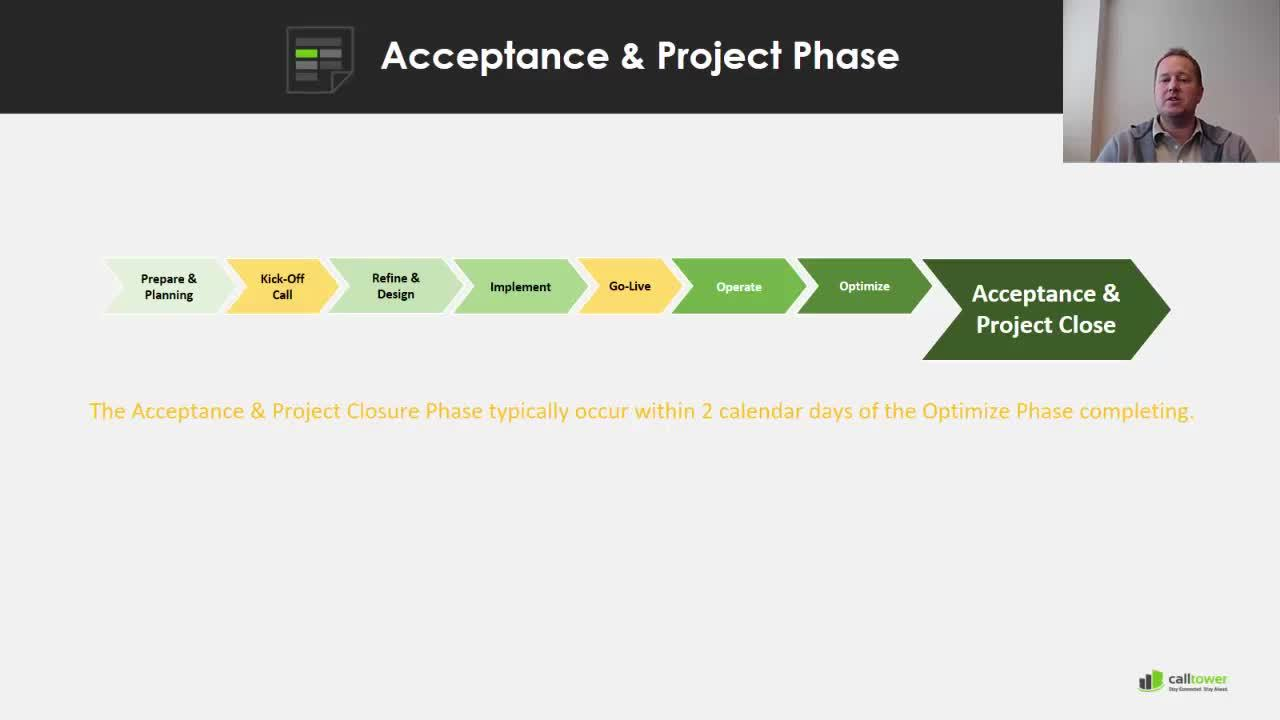 Optimize Acceptance and Project Close