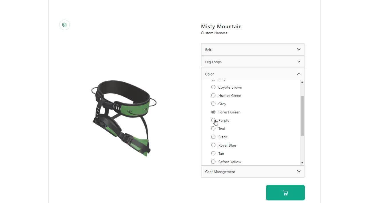 Custom Harness – 3D – Misty Mountain