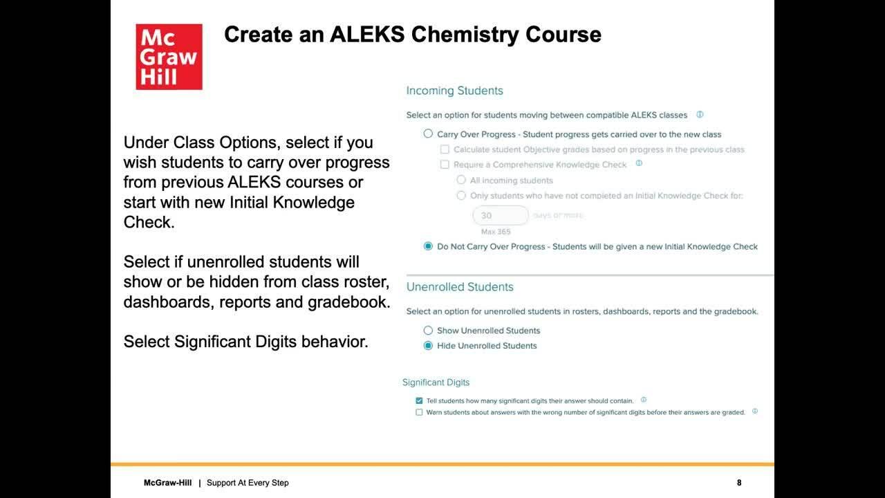 ALEKS—Building a Chemistry Course
