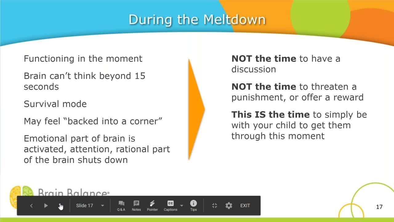 Managing the Meltdown_ Help for Parents