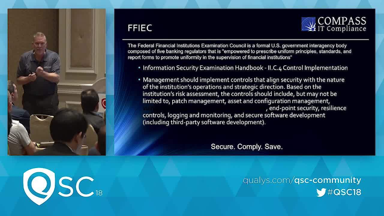 QSC18 - Managing Compliance in a Rapidly Changing Regulatory Environment