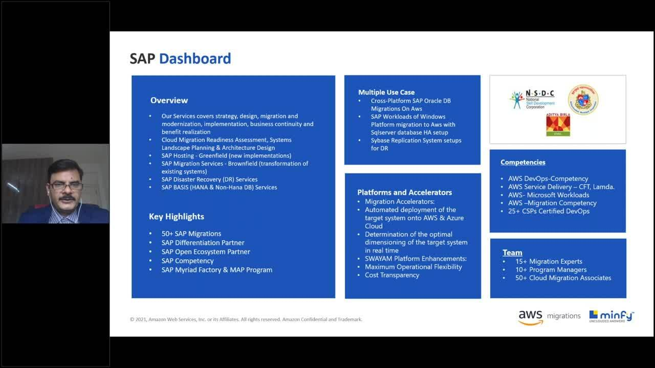 Together, We Innovate - Improve Productivity and Optimize Cost by Moving SAP to AWS with Minfy